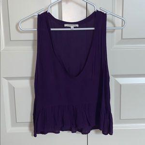 Purple (peplum) top